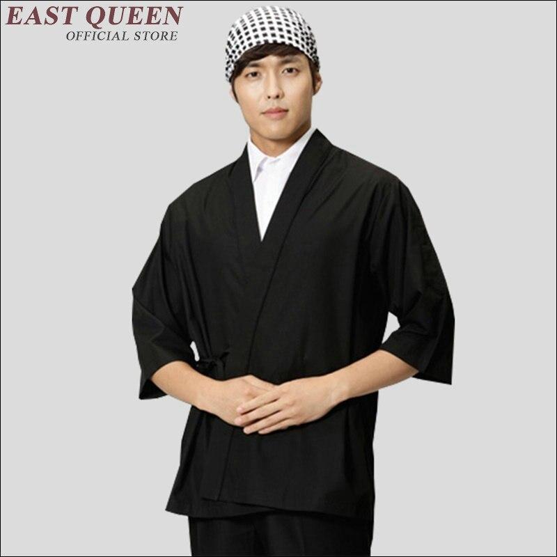 Service alimentaire hommes japonais chef veste sushi chef uniforme mâle japonais restaurant uniformes mode sushi chef vêtements AA1374
