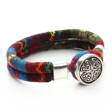 Bohemian Snap Button Bracelet Jewelry for Women