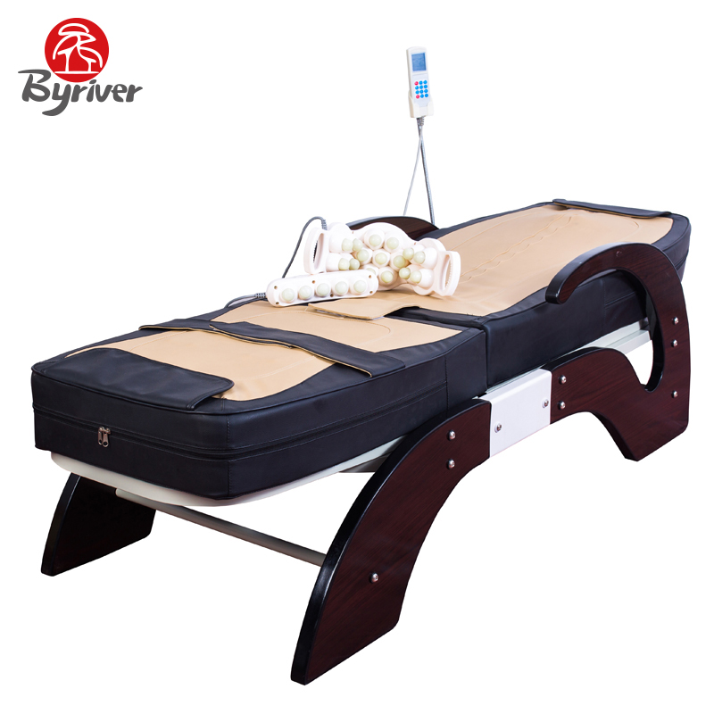 BYRIVER Electric 7 Jade Stone Roller Thermal Massage Bed Table Massager t art блузка
