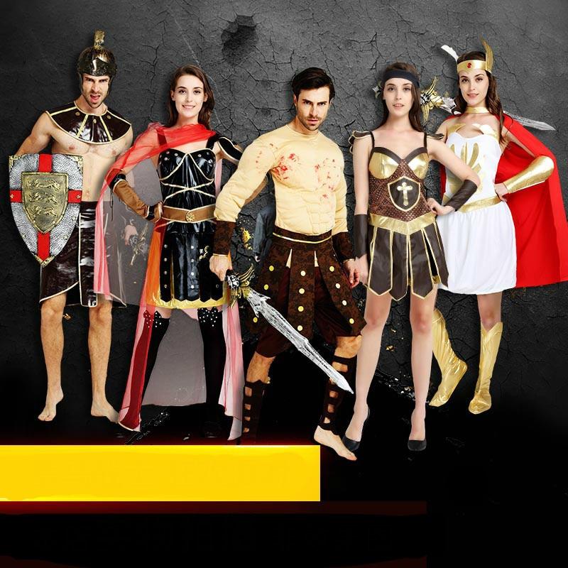 Costumes & Accessories Halloween Purim Adult Ancient Roman Greek Warrior Gladiator Costume Knight Julius Caesar Costumes Cosplay For Men