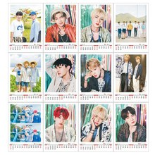 Kpop BTS Army 2019 Desk Calendar Bangtan Boys Mini Picture Photo Album Jimin Suga V Fans Collections Made Cards