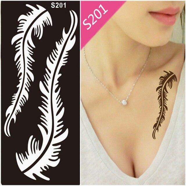 1Pcs Mehndi Indian Henna Hand Tattoo Stencil, Glitter Airbrush Lace Flower Tattoo Stencil Templates For Painting Tatoo Stencils