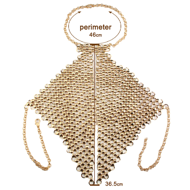 Heavy Custom Summer Sexy Style Metal Body Necklace Chain Bra Statement Choker Collars Maxi Necklace Facebook 3374