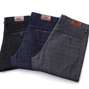 Image 4 - VOMINT 2020 New High Quality Mens Elastic Casual Pants Mens Business Dress Slim Jogger Stretch Long Trouser Male Suit Pants