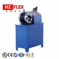 Envío gratis a Nigeria 380 v 3kw 2 pulgadas HZ-50D multifunción automático hidráulico aire freno manguera prensadora máquina presionando