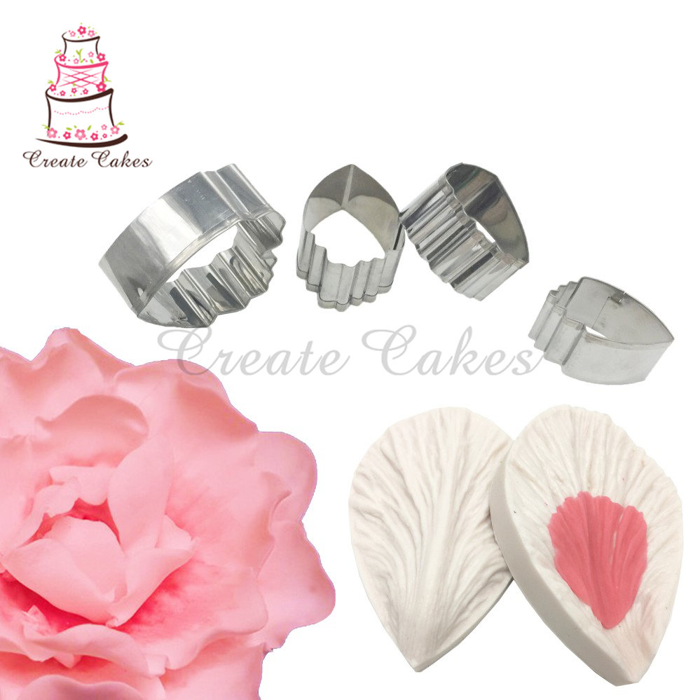 Orchid Petal Veiner Fondant Silicone Mould Cake Decorating Wedding Flowers UK
