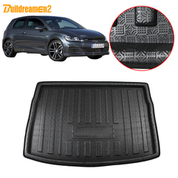 Buildreamen2, Автомобильный задний поднос для груза, коврик для багажника, напольный коврик для багажника, коврик для Volkswagen Golf 7 GTI R Hatchback 2013-2018