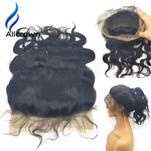 Alicrown Brazilian Body Wave Lace Frontal 360 Closure Bleached Knots 22.5x4x2 Inch Full Lace Best  Lace Frontals With Baby Hair