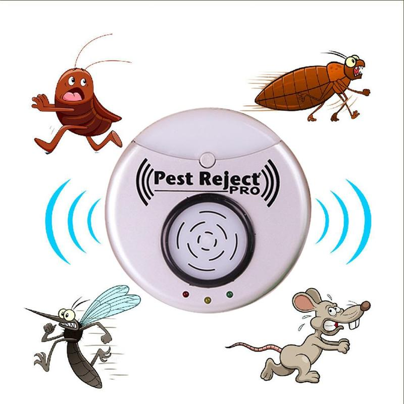 Pest Reject Pro Ultrasonic Repeller Home Bed Bug Mites Spider Roaches EU Plug Pest Killer