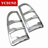 New Parts Toyota Hilux Accessories ABS Chrome Design Rear Lamp Cover Strips Trim Casing Fit Vigo