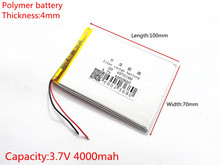 Liter energy battery 3.7V 4000MAH 4070100 Lithium polymer Battery with protection board For MID 7inch Tablet PC