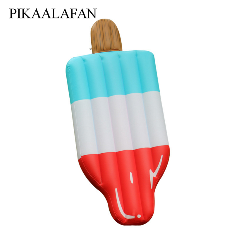 PIKAALAFAN Inflatable Ice Block Float Mat Huge Size Ice Cream Pool Floats Inflatable Women Pool Swim Ring Water Floating Bed