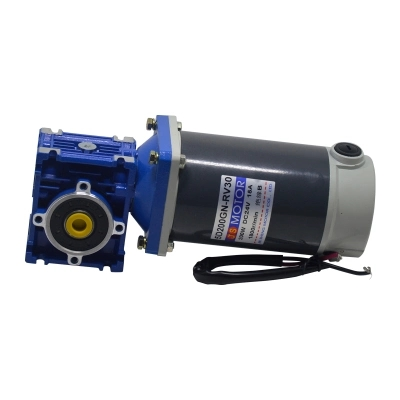 DC12V/24V 200W 5D200GN-NMRV DC gear motor worm gear gearbox high torque gear motor/mechanical equipment/conveyor belt/DIY motor ac220v90w 0 500rpm 2m90gn c single phase speed decelerating gear motor suitable for mechanical equipment power tools diy etc