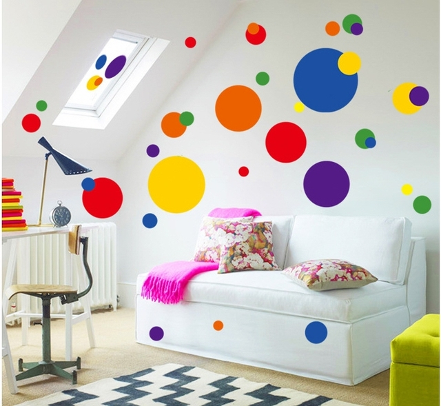 Rings Circles Wall Stickers Geometric Vinyl Decals Modern House Living Room  Store House Party DIY Decoration