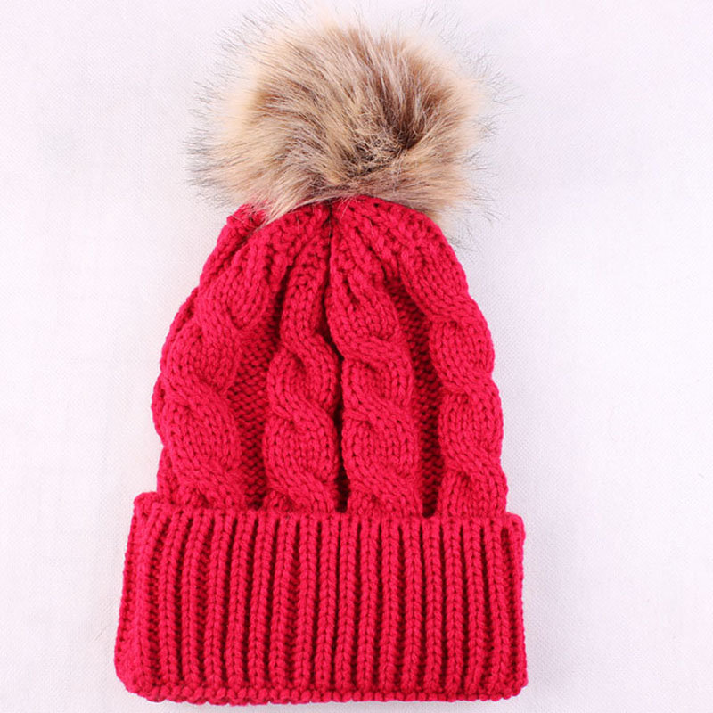 Luxury Cable Knit Fur Ball Pom Pom Beanie Real Raccoon Warm Wool Bobble Hat Winter Beanie Hat Crochet Cap Women Ear Protect real cable ott60 1m20