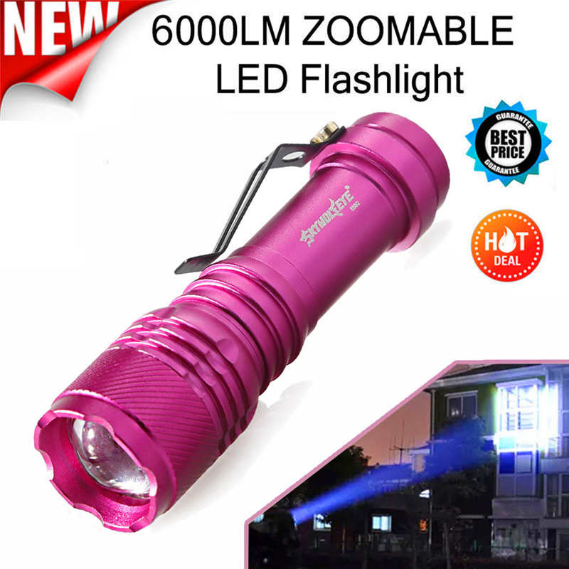 Q5 AA/14500 3 Modes ZOOMABLE LED Flashlight Torch Led Bike Super Bright Led Flashlight 14500 Powerful Led Flashlight #4A31