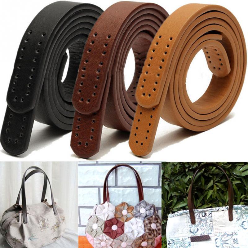 2PCS Handles Leather Fashion Handbag Purse Belts DIY Handle Accessories Bags Handmade Part Replacement Shoulder Bag Straps 60cm