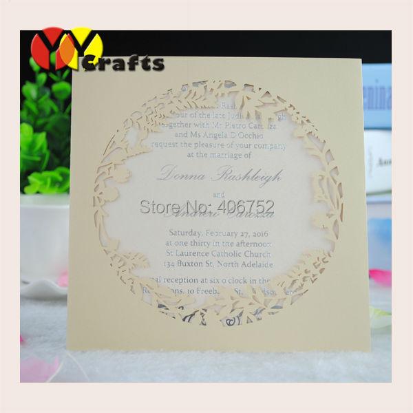 Price For Wedding Invitations: 2018 Wholesale Price Wedding Favor 3d Laser Cut Wedding