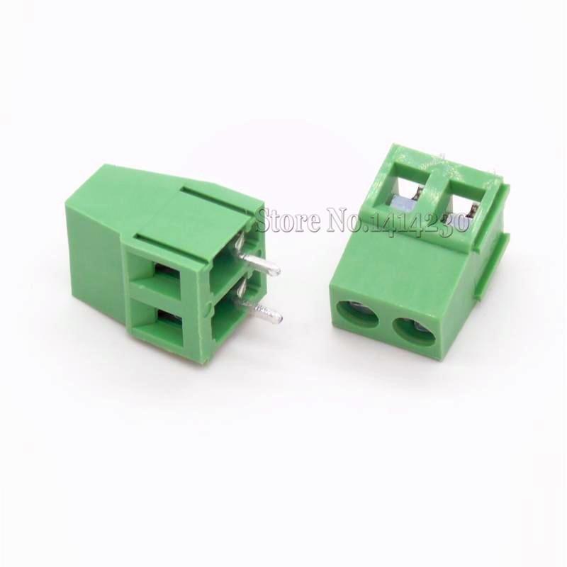 10Pcs 5mm 2Pins 2P 2 PINS PCB Screw Terminal Block Connectors 300V 10A DG128 KF128 KF128-2P pitch:5.0MM/0.2inch, Green kf350 2p 3 5mm pitch 7 5mm pcb screw terminal block connectors binding post wire connecting terminals spacing aqjg