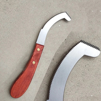Stainless Steel Blade Edge Cattle and Horse Hoof Knife Shears Cutter Multipurpose Hoof knife Wooden Handle