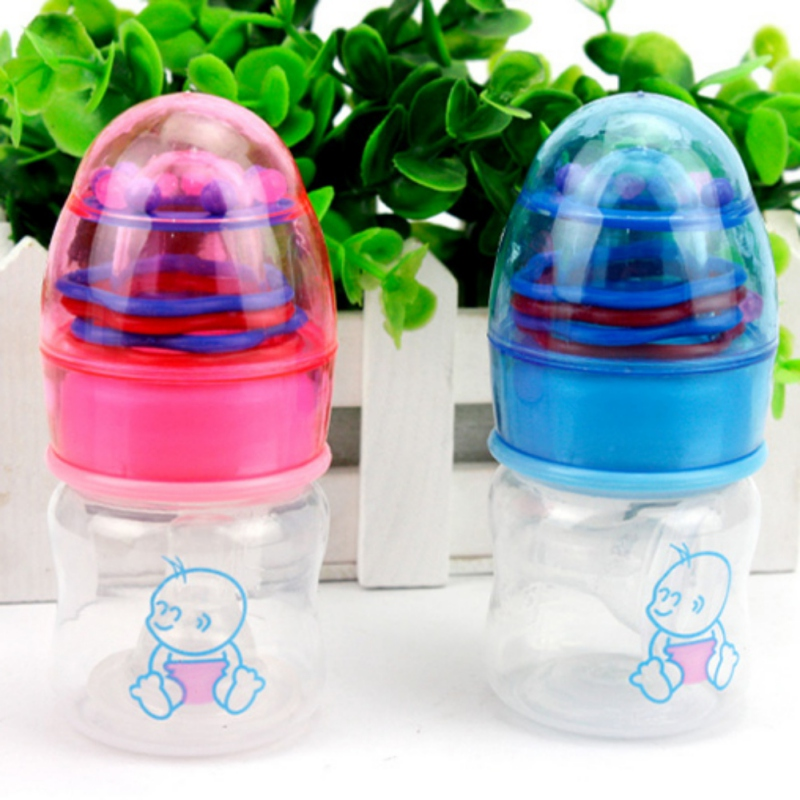 Children Learn Feeding Drinking Handle Bottle Kids Straw Juice Water Bottles Cute Baby Bottle Infant Newborn Cup