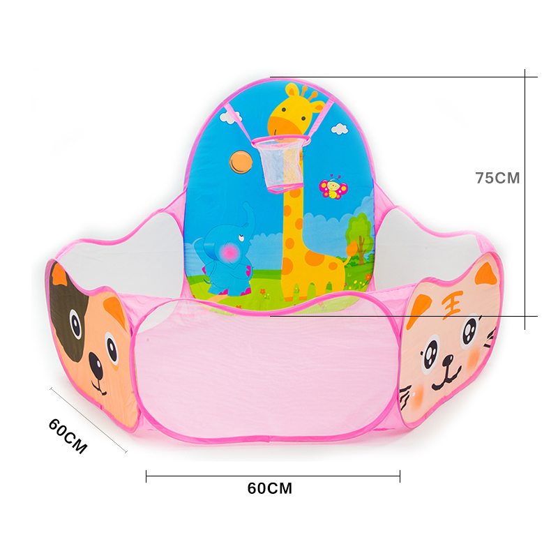 Cartoon-Pink-Folding-Baby-Play-Ball-Pool-Portable-Toy-Tents-Hexagon-Kids-Playpen-Ball-Pit-Outdoor