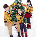 Family Clothing Set Clothes Spring Autumn Fashion Striped Sweaters Cotton National Wind Knitting Coat Plus Size