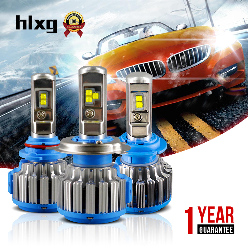 HLXG H7 Led 12V H4 H11 9005 9006 HB4 Car Led Headlight Bulb Canbus 7000LM/Set 35W Automobile Headlamp 6000k White Car Light h7 car led headlight bulb 100w 20000lm cob chip led auto headlight canbus headlamp automobile led head fog light 12v 24v 6000k