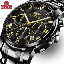 Men Watches Top Brand Luxury OLMECA Waterproof Quartz Wrist Watch Chronograph Relogio Masculino Military