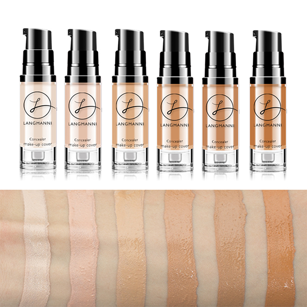 Langmanni 6ml Makeup Concealer Foundation Liquid Whitening Waterproof Make Up Contour BB Cream Korean Cosmetics TSLM2 Онихомикоз