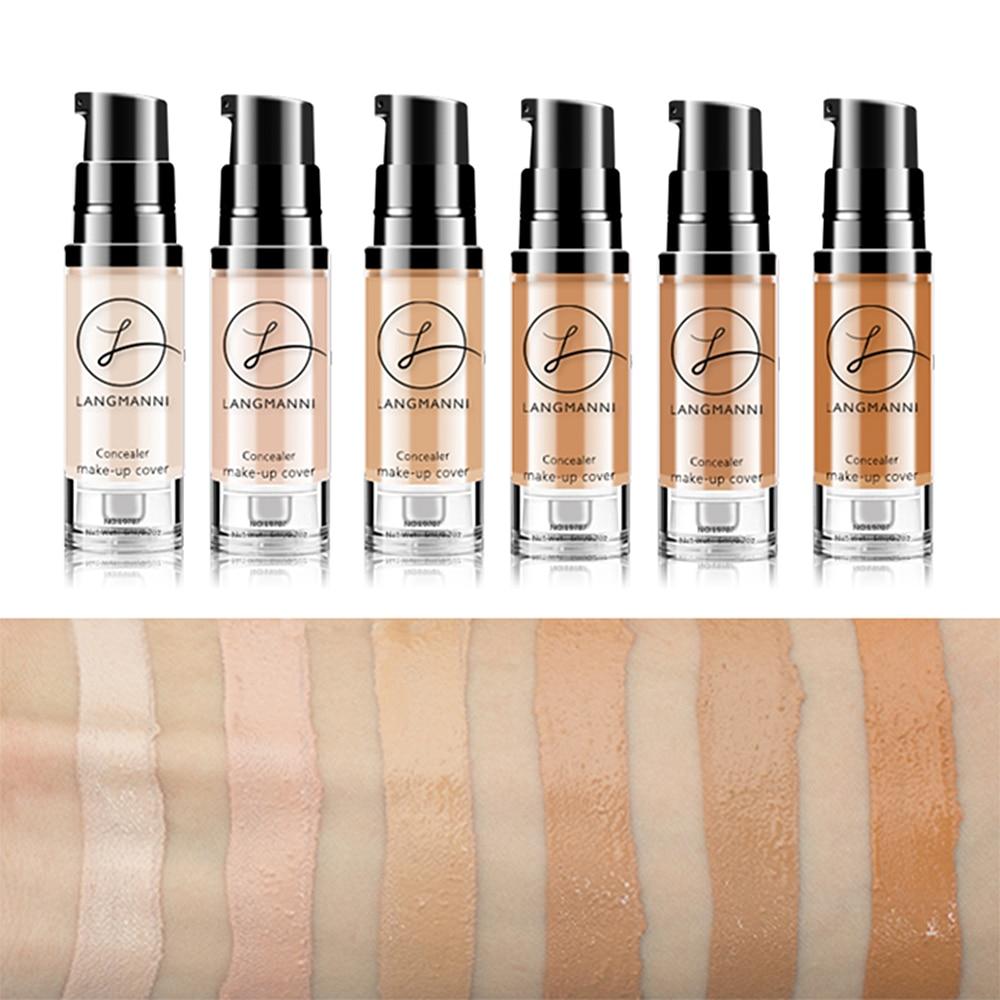 Langmanni 6ml Makeup Concealer Foundation Liquid Whitening Waterproof Make Up Contour BB Cream Korean Cosmetics TSLM2(China)