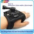 Бесплатная Доставка!! размер: S, 360-градусный поворот, перчатки стиле Крепление с Водонепроницаемым Корпусом Для GITUP, SJ4000, Gopro, Xiaomi камеры
