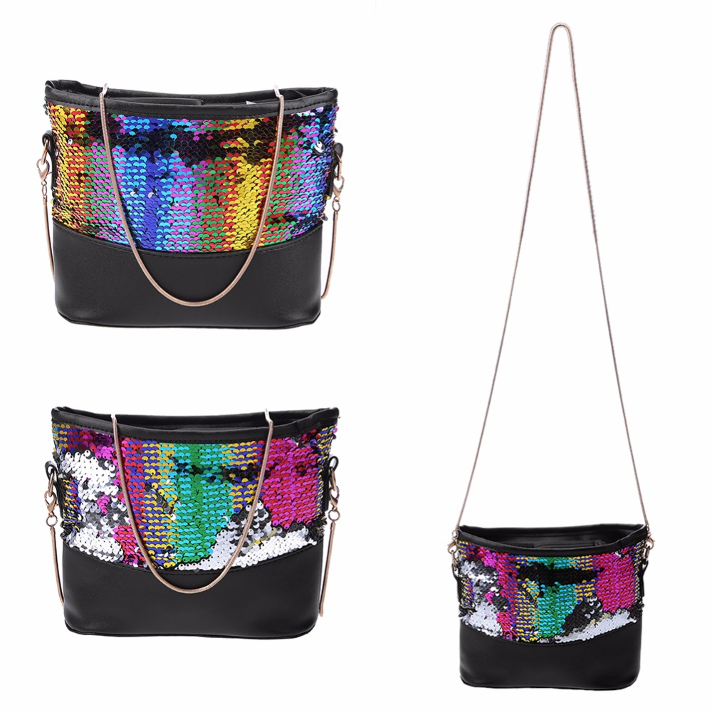 2018 Lady Shinning Glitter Handbag Fashion Sequins Crossbody Bag for Women  Evening Party Clutches Flap Shoulder Messenger Bag-in Top-Handle Bags from  ... d34652a809d1