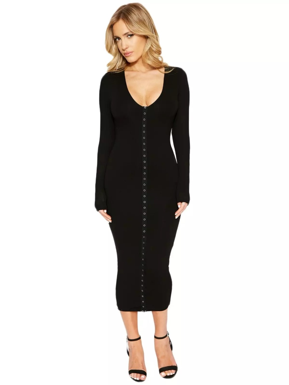 Popular Mid Calf Length Dresses with Sleeves-Buy Cheap Mid Calf ...