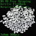 Marquise Earth Facets $0.99 Many Sizes Acrylic Rhinestones Flat Back Crystal Clear Glue On Beads DIY Jewelry Nails Art Charms