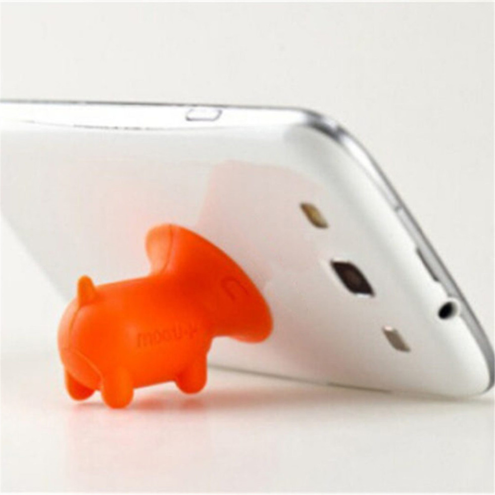 5pcs mobile phone holder stand silicon Desk Universal pig holder phone cute Small objects ornaments Suction cup Convenient
