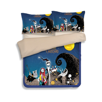 Nightmare Before Christmas Bedding Set Bedclothes Unique Design Duvet Cover Bed Sheet Fitted Sheet Pillowcase Twin Queen King