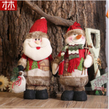Adornos Navidad 2017 Fashion 35cmx13cm  Christmas dolls  Santa Claus Snow Man Christmas Gifts Christmas Decoration For Home