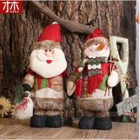 Adornos Navidad 2019 Fashion 35cmx13cm Christmas dolls Santa Claus Snow Man Christmas Gifts Christmas Decoration For Home