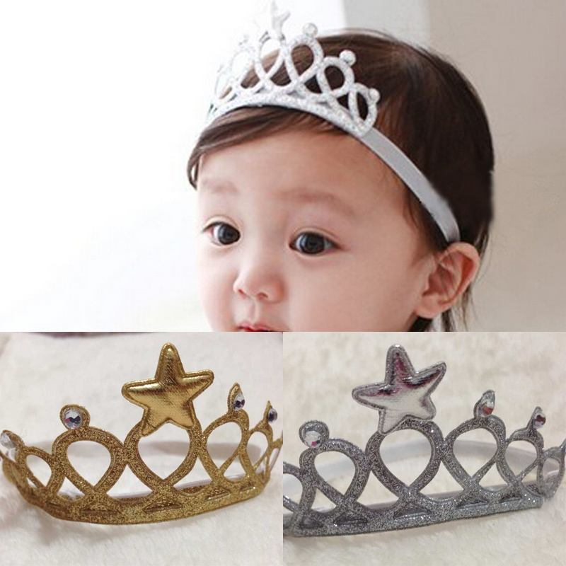 New Baby Kids Girl Infant Hair Accessory Princess Crown Headband Hairband(China (Mainland)