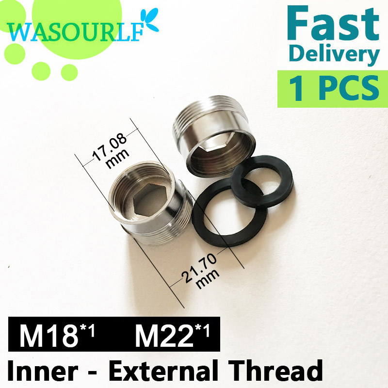 WASOURLF M22 Male External Thread Transfer 18 Mm Female Inner Connector Outer Adapter Bathroom Kitchen Brass Faucet Accessories