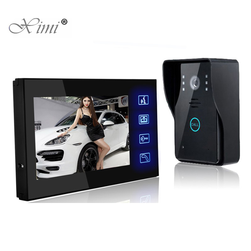 Good Quality 7 Inch Color Video Door Phone System IR Night Version 700TVL Touch Keypad Video Door Bell Door Intercom System good quality 7 inch video door phone system door access control system color screen video doot intercom wired door bell intercom