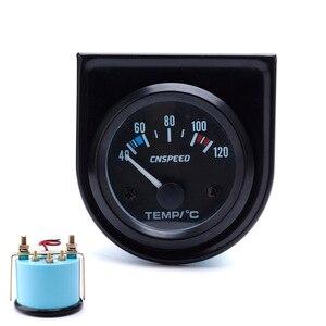 Image 2 - CNSPEED 52 ミリメートル車の水 Temperatur ゲージ車温度計ブラックフェイスパネル自動水温計メーター YC101261