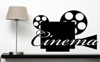 Wall Vinyl Sticker Decal Camera Video Film Hollywood Bollywood Filmservis