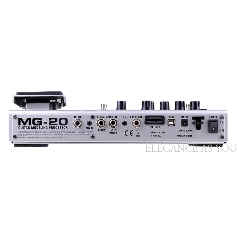 Electric Guitar Effector Multi-function Guitar Composition Upgrade Tuner Drum Machine Integrated Digital Guitar Effects MG-20