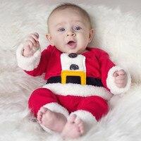 2016 Christmas Gifts Newborn Baby Christmas Set Baby Girls Boy Santa Claus Costumes Clothing Children Long