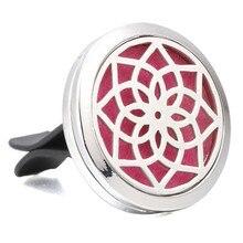Духи ювелирные изделия цветок лотоса из нержавеющей стали вентиляционный освежитель автомобильный диффузор для эфирных масел ароматерапия ожерелье медальон YC012