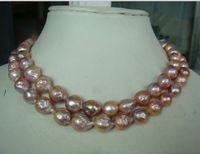 12mm SOUTH SEA gold pink kasumi PEARL NECKLACE 30inch