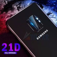 2PC 21D Tempered Glass For Samsung S9 Camera Protector Galaxy S8 Plus A8 J4 J6 J7 J8 2018 Protective Lens 9H Film