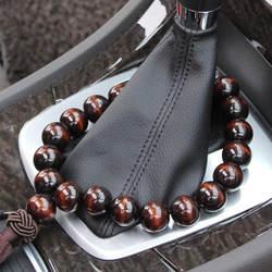 Автомобильный подвесной кулон автомобиль Шестерня бисер мир черный деревянный бисер заднего вида Подвеска Украшения Аксессуары